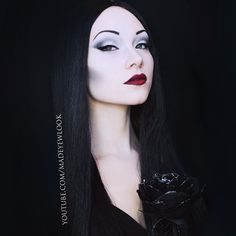 After my #Wednesdayaddams tutorial, you guys HIGHLY requested #Morticia! This#MorticiaAddams inspired #tutorial will be up either tonight or possibly tomorrow on www.youtube.com/madeyewlooktwice! If you guys are also a fan of beauty looks from me, please be sure to subscribe to my second channel!  #youtube #halloween