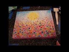 Floral Landscape Acrylic Painting Tutorial - Free Lesson for Kids and Be...