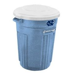 North Carolina Tarheels Trash Can Rubbermaid Commercial 32 Gallon
