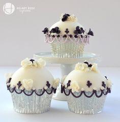 cupcak heaven, cupcakescupcak decor, white cupcak, purpl cupcak, cupcakesyummi cupcak, cake decor, black white, cup cake, cook recip