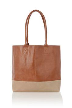 Oasis   Colour block leather shopper  £50.00