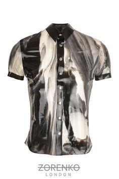 Marble Latex Mens Shirt by ZorenkoLondon marbl latex, men shirts, latex men, kimberlici latex