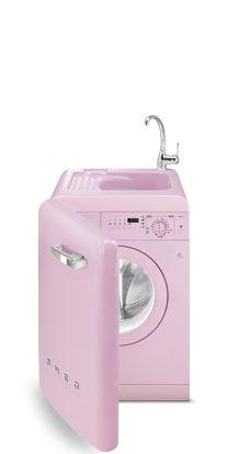 Smeg on pinterest - Pink smeg washing machine ...