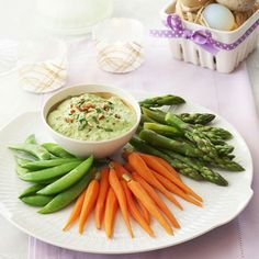 Loaded with parsley, tarragon, and roasted almonds, this quick pea dip packs a flavorful punch. #myplate #superbowl