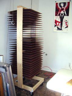 art drying rack, diy drying rack, cost 50, diy dri, papers, shelv, masonit, rack idea, dri rack