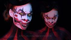 Double Face Clown Makeup Tutorial | Dual