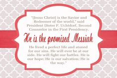 Aug 2014 Vt Handouts - Uchtdorf quote preview