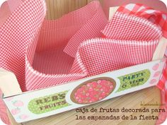Cajas de frutas decoradas para bodas