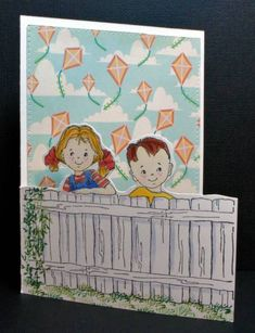 Art Impressions Stamps: Love these sweet front and backs.  The fence has always been one of my favorites!