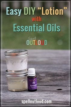 Easy DIY lotion with essential oils from @Maureenspell #YLEO
