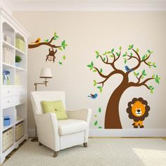 nursery wall art decal tree and tree branch set by wallinspired