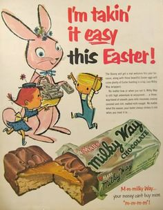 Take it easy this Easter. #vintage #Easter #chocolate_bars #ads