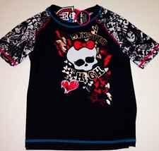 Monster High Girls Swim Shirt Swimsuit Top 10/12 NEW Swim Wear Rash Guard