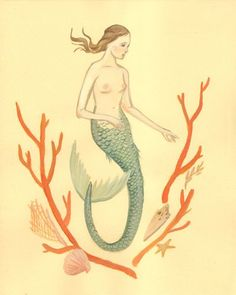 mermaid with corals - emily winfield martin