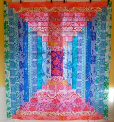 A log cabin Quilt not a square, A whole Quilt and it is stunning!!!!