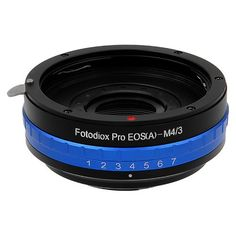 Fotodiox Pro Lens Mount Adapter with Built-in Aperture Iris, Canon EOS EF (NOT EF-S) to Micro Four Thirds (MFT) Camera