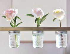 Mason Jar Flower Shelf DIY from With Lovely, featured @totgreencrafts