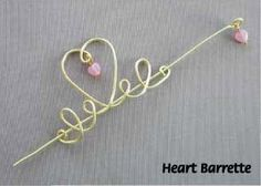 UNIQUE PROJECT IDEAS USING GLASS BEADS at http://www.wigjig.com/blog/1785-unique-project-ideas-using-glass-beads.  Click on photo in article for instructions to make the barrette.