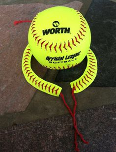 CUTE Softball Bracelet made from REAL Softballs by krystleskrafts, $10.00