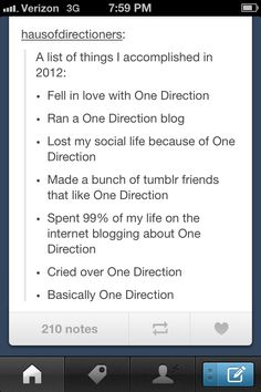 My accomplishments of 2012 and most likely future accomplishments of 2013...
