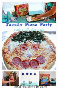 Family Pizza Party- Make a Silly Face Pizza by FSPDT #MyGoodLife #CollectiveBias #shop