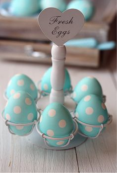 Polka dotted Easter eggs