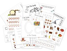 Candy Preschool Pack-free downloadable printables!