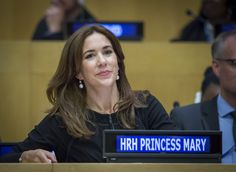 Crown Princess Mary of Denmark was among the delegates who attended the African First Ladies Against HIV/AIDS and UN Population Fund meeting, New York, September 22, 2014