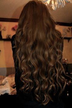 #brunette #long #curls #hair