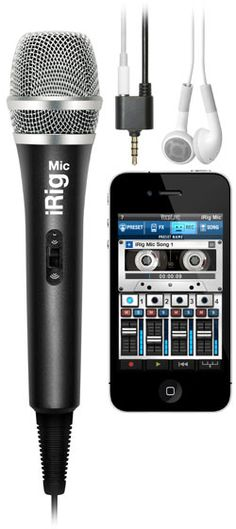 iRig Mic: Professional microphone for recording interviews, music and more on your iPhone/iPad