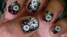 Halloween nail art design by freemissval - Nail Art Gallery nailartgallery.nailsmag.com by Nails Magazine www.nailsmag.com #nailart