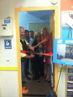 #charity @booksforkidsorg - The @Mariobatali library at @GoddardRiv ribbon cutting ceremony (9/13/12)