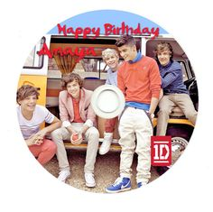 World of Pinatas - One Direction Personalized CDR (Set of 6), $12.99 (http://www.worldofpinatas.com/one-direction-personalized-cdr/)