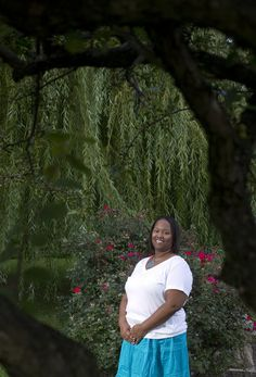 """September is PCOS Awareness Month; Article:  """"Group offers support to those with polycystic ovary syndrome"""" {Photo:  Keysha L. Riddick, 32, of Harrisburg, founded Sophisticated Ladies Inc., a support group for women with PCOS, and serves as its president.}"""
