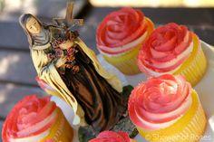 Heavenly Rose Garden Cupcakes