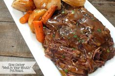 """Joyously Domestic: Slow Cooker """"Melt in Your Mouth"""" Pot Roast"""
