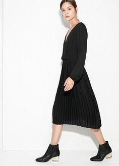 Sukienka jedwab i kaszmir - Sukienki dla Kobieta | MANGO More