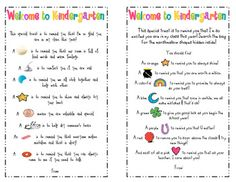 Goodie Bag Poems for the 1st day!  {avail in kinder, 1st, and 2nd grade versions}
