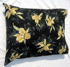 Pillow cases set of 2 Black with gold colored by sewinggranny, $15.00