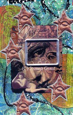 Joanna Grant Mixed Media Art: Gelli Print & Zentangle Simple Art Journal Page - Part 5