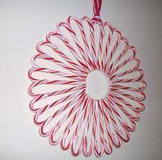 candy cane wreath....cute idea :)
