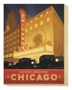 """""""Chicago, Historic Downtown"""" by Anderson Design Group"""
