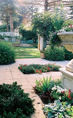 gorgeous formal garden