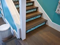 What about glass-tiled stairs? Yay or Nay? #hgtvsmarthome #pinwithmeg