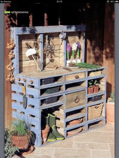 Garden work table make of old pallet