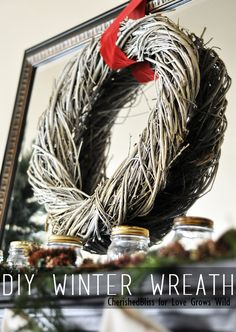Create a DIY Winter Wreath to decorate your home all winter long!