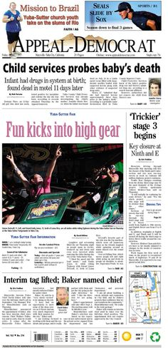 Appeal-Democrat front page for Friday, August 2, 2013.