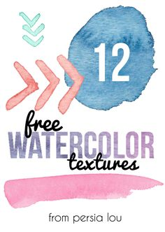 Persia Lou: 12 Free Watercolor Textures