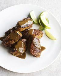 Pork Medallions with Curry-Honey Glaze Recipe on Food & Wine