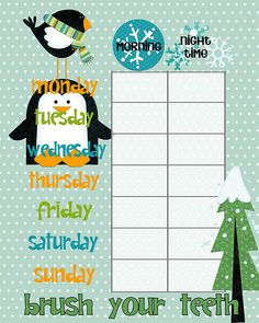 Teeth & Chore Charts for {Winter}